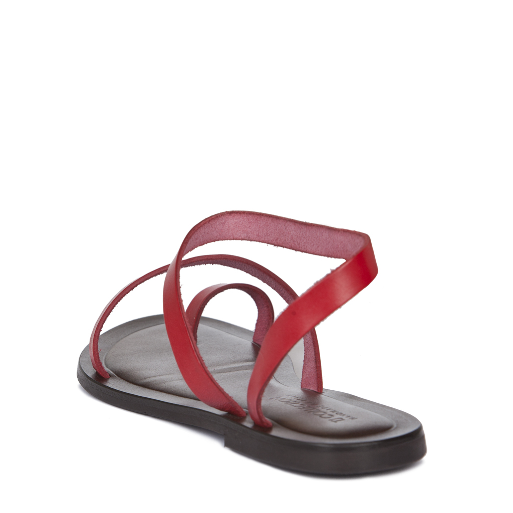 bfbb1d14b ... Красные сандалии из кожи GA 5100019 RDA ...