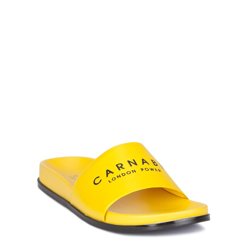 1a62adbb614f Желтые пляжные сабо