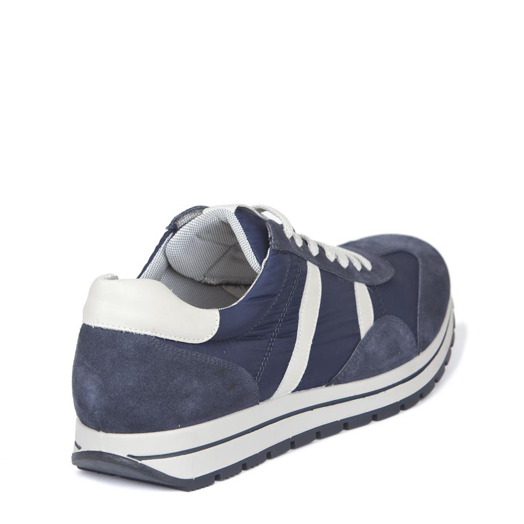 309756dd9 Синие кроссовки из замши и текстиля   tjonline.ru